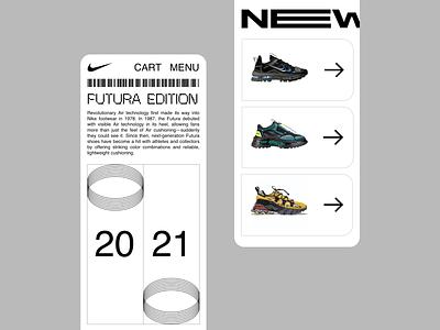 Nike Futura   Responsive nike georgia boldmonkey website responsive ecommerce shoes mobile web design