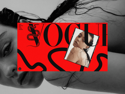 Vogue Magazine | UI Design colours boldmonkey ui website magazine snake vogue