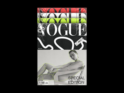 Vogue Magazine, Special Edition art graphic design branding boldmonkey snake printing magazine vogue print design print