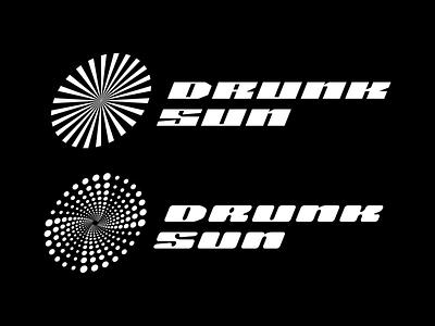 Drunk Sun - Logo Concept bold monkey margania ika margania georgia typography sun shapes graphic design boldmonkey branding logo
