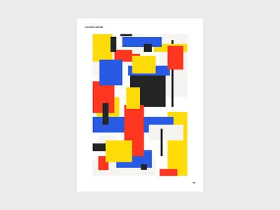 Colours 288 destijl bauhaus colours forms mondrian poster shapes