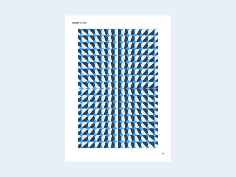 Colours 286 geometric abstract colours black grey blue colour palette forms shapes poster art poster