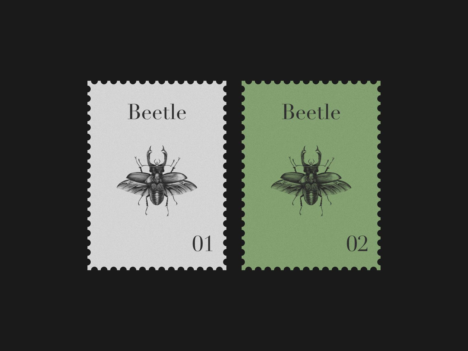 Beetle Postage Stamp By Ika Margania On Dribbble