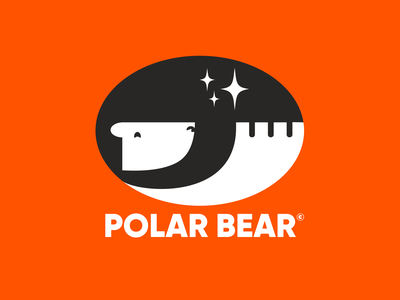 Polar Bear branding design print orange polar bear polarbear bear logo branding