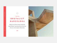 Brutalist Barcelona