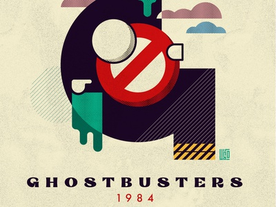 Graphic Movies   Ghostbusters 1980s retrowave retro abstract design poster design poster ghostbusters 80s minimalism illustration