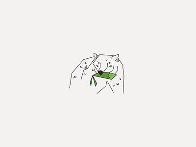 Bear minimalistic simple monoline illustration design classic illustration minimalism bear logo nature bear