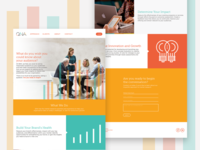 QNA Group home page strategy icons infographic ui focus group research