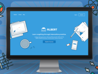 Albert static page home page illustration startup education
