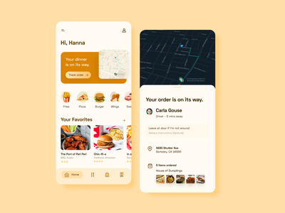 Food Delivery App vector typography food illustration product design product mobile ui mobile app ux ui design food and drink foodie food app app food