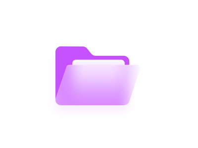 Glassy Effect Folder Icon vector illustrator designs figma folder icon folder ios app user interface website ui ux muzil product design dribbble icon design iconography icon set icons