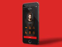 Fitness App Cencept design for iOS