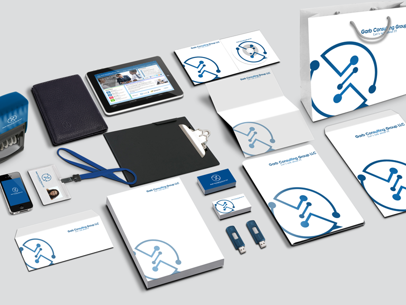 Corporate Branding USA it company contact design logo stationary branding corporate