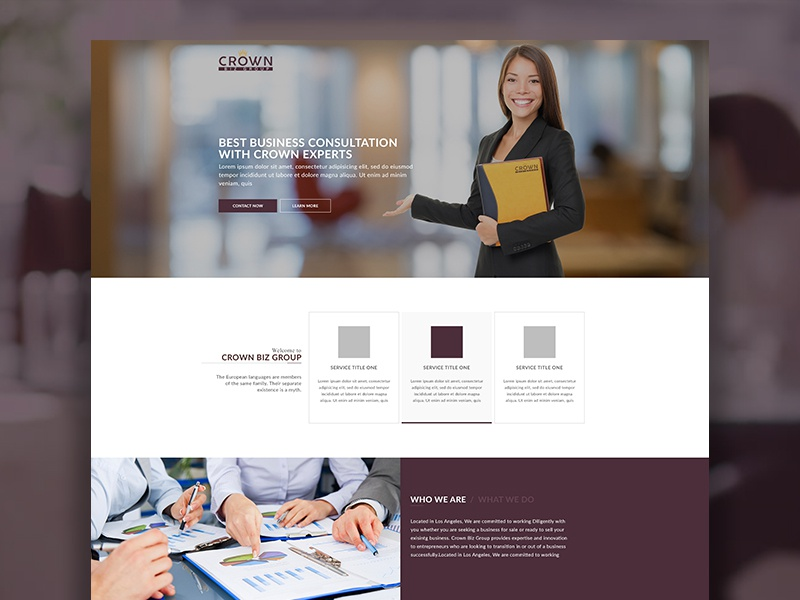 Business Consulting Website psd free html template web corporate company ux ui consulting business website