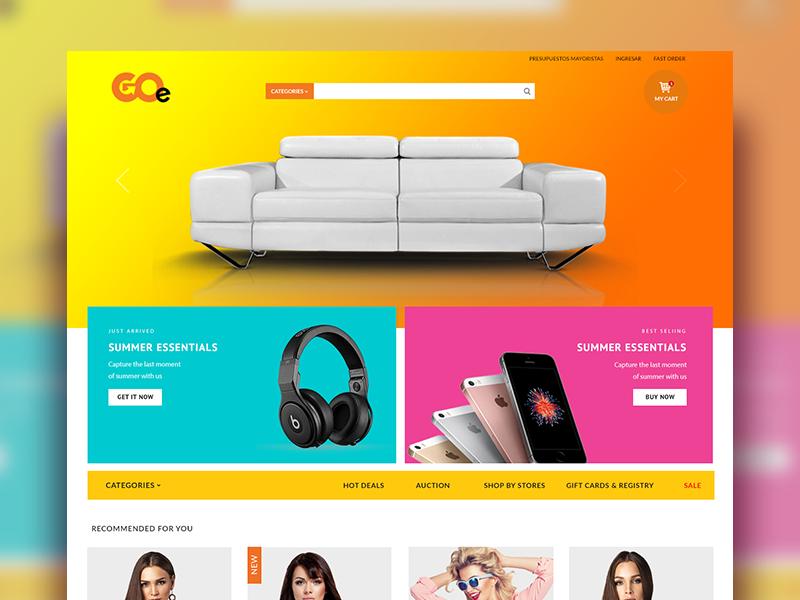 Multi Vendor Ecommerce Platform design site colorful graphics web ux user interface ui website store ecommerce