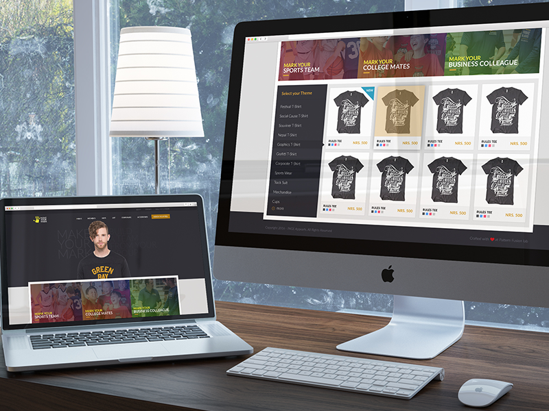 Tshirt Store Website graphics design ux ui catalog ecommerce tshirt apparel store website