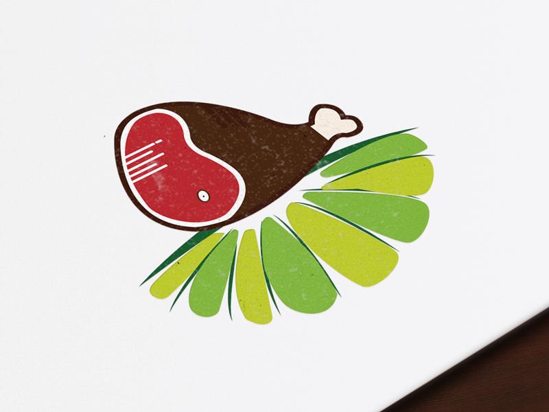 Poultry Store/Farm Logo Concept farm meat identity store branding ui design mockup. flat logo poultry