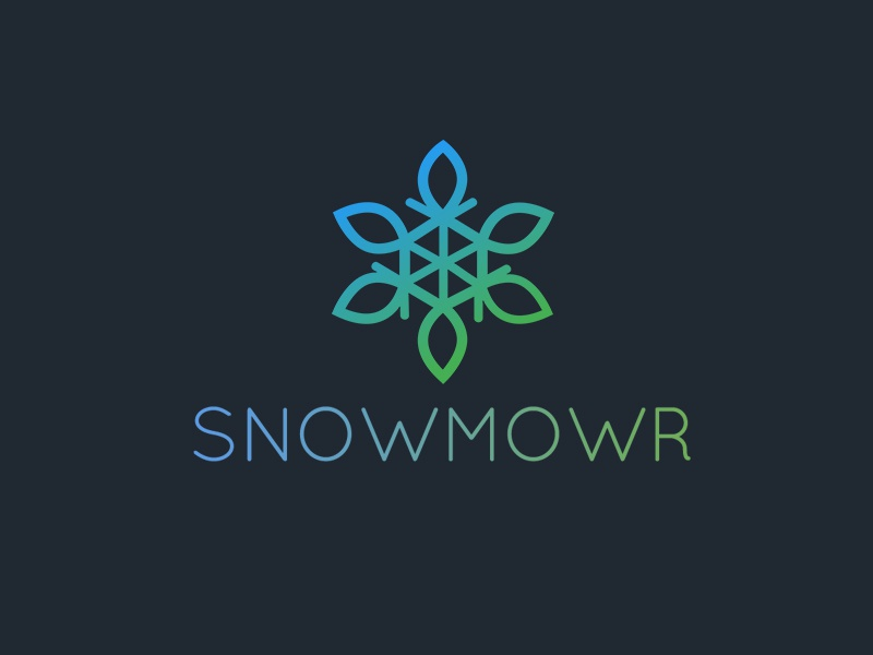 Icon & Logo for Snowmowr graphics blizzard snow design logo icon
