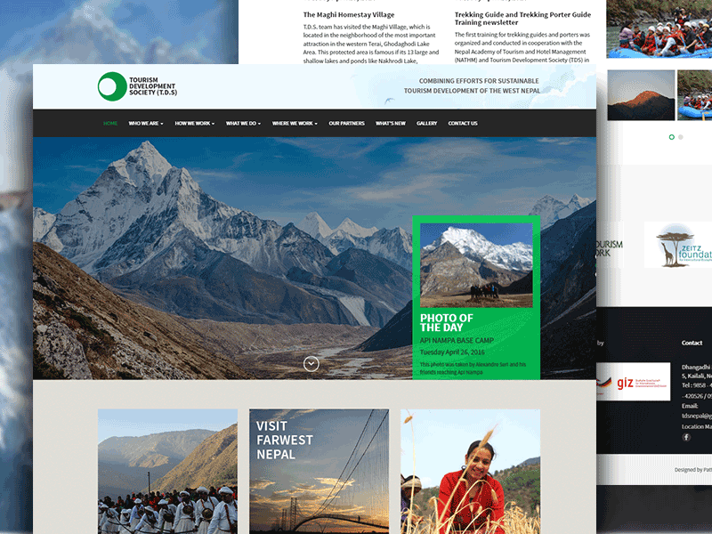 Nepal Tourism Site nepal ux ui design site website hiking trekking tourist tourism