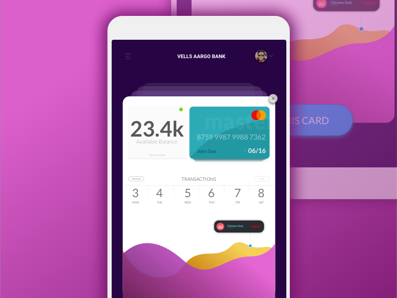 Financial App banking online card credit mac sketch bank finance android ios app financial