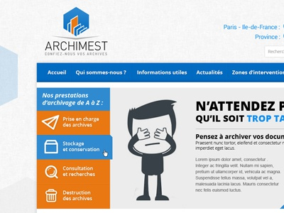 Corporate Website archive france french ux user interface ui design website corporate