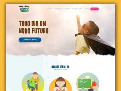 Remanso de Pedreira ui user interface brazil remanso fun kids website school