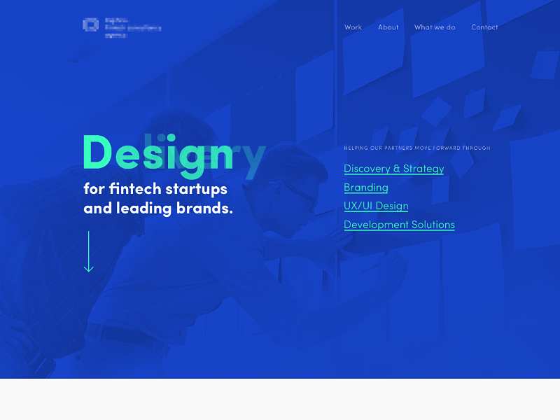 Part of site typography uxui design studio site