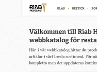 Site catalogue header for Riab Heselius