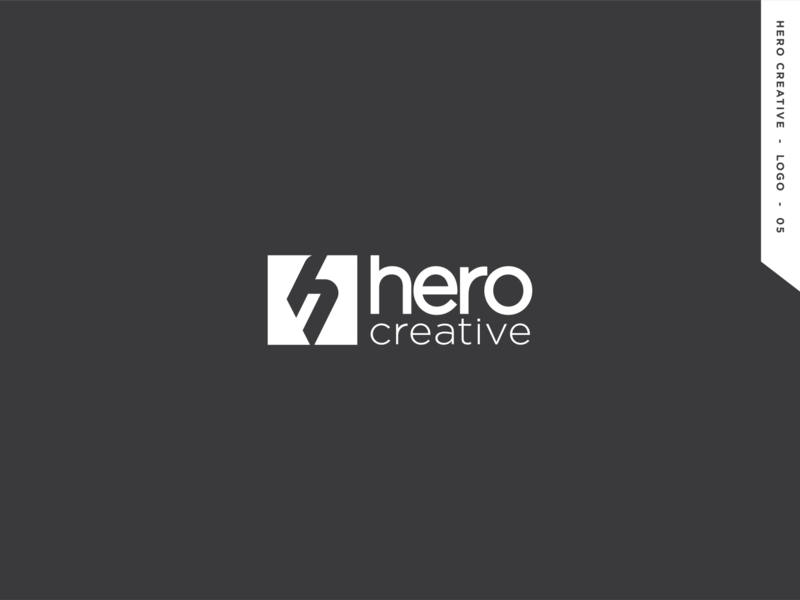 Hero Creative logo graphic design branding creative hero logo design logo