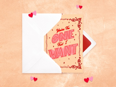 'You're the One that I Want' Valentine's Card