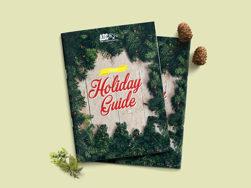 2017 Austin Holiday Guide design illustration layout exploration editorial pdf layout layoutdesign editorial design