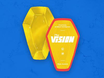 Vision Business Cards | Everyone gets a Mind Stone! layout design editorial design typography wandavision handlettering marvelcomics marvel superhero business cards dribbblewarmup dribbbleweeklywarmup