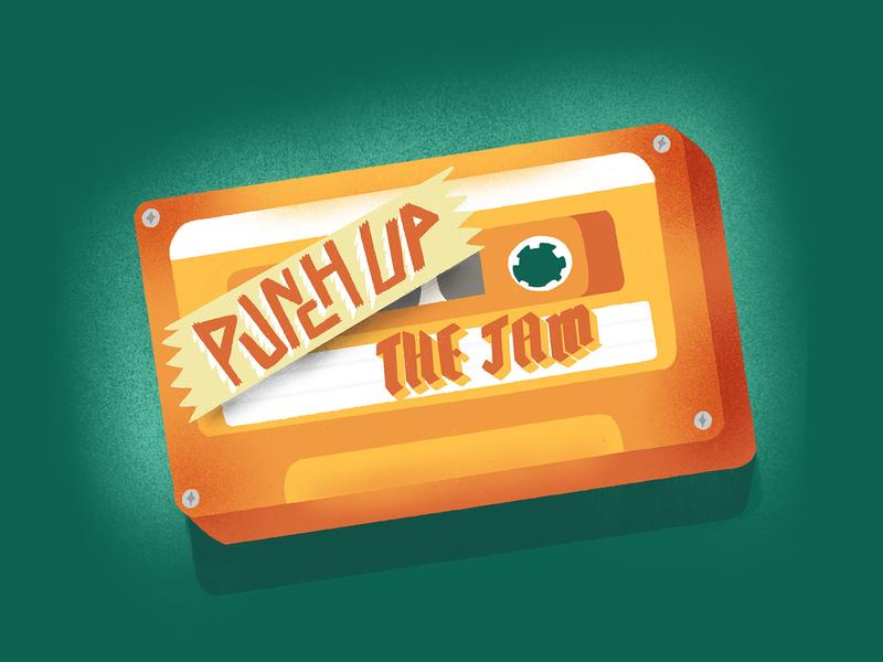 Punch Up the Jam Cassette Tape Illustration
