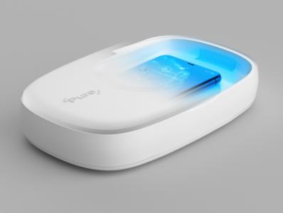 The Pure Case - UV-C Sanitiser product product design ux ui cinema 4d animation 3d branding digital design