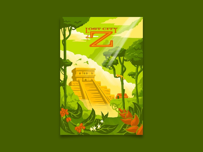 Lost City of Z lost city of z uncharted lost city adventure travel poster travel illustration retro poster