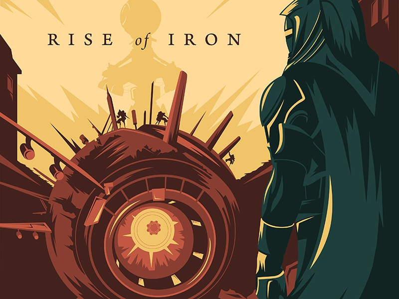Destiny: Rise of Iron vector poster rise of iron destiny fan art fan art video game minimalism minimalist gaming vector poster bungie destiny