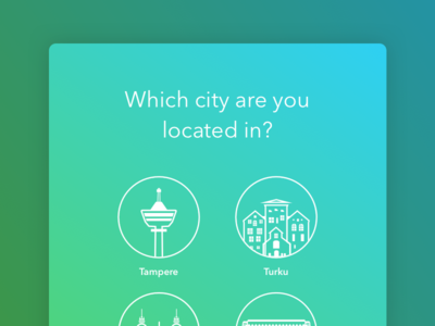 City chooser ui lazyregistration wizard clean lineicons tablet ipad ui chooser city