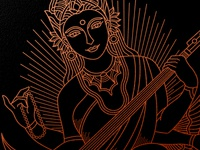 Saraswati Illustration