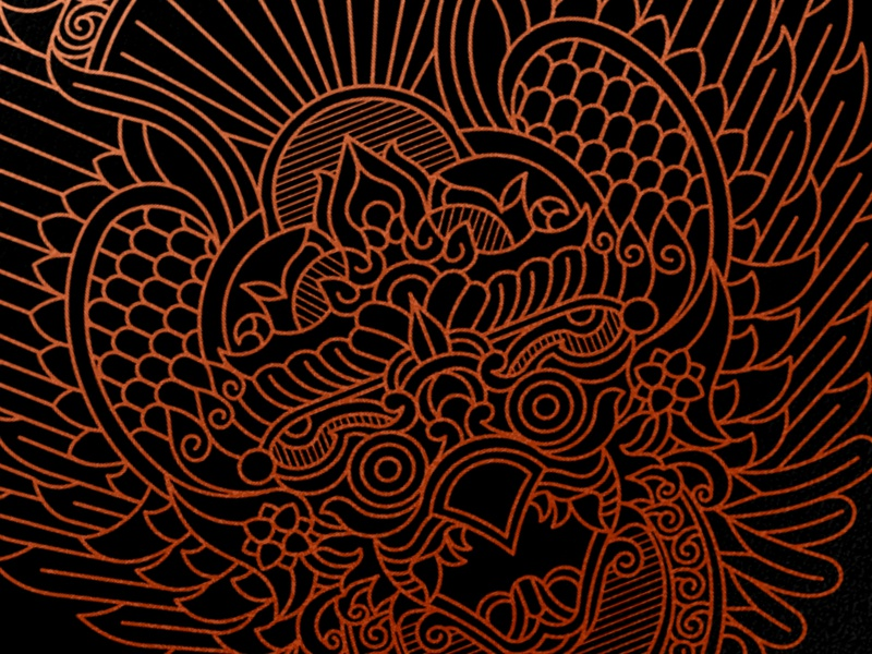 Garuda Illustration poster apparel brand clean animal tshirt vector clothing garuda design illustration identity geometric art lineart line