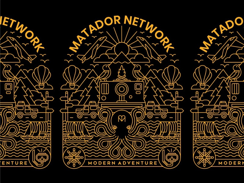 MATADOR FINAL hotel travel agency modern adventure travel app traveling illustration design art typography t-shirt travel geometric line lineart logo monoline