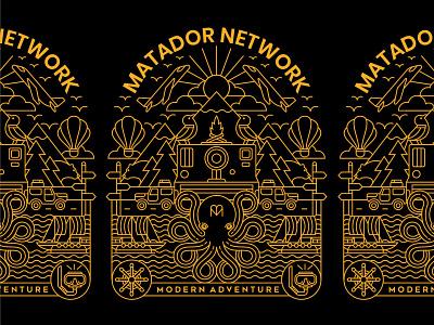 MATADOR FINAL hotel travel agency modern adventure travel app traveling illustration design art typography t-shirt travel geometric line lineart logo monoline