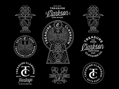 Treasure Clarkson, Graphic Exploration. typography flower bird t-shirt design tattoo artist black white merchandise t-shirts t-shirt apparel design apparel logo apparel clothing branding logo illustration geometric lineart monoline