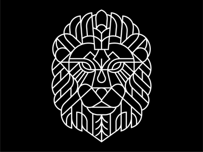 TYPIA NESIA T-SHIRT black  white apparel design logotype lion logo design clothing label clothing brand clothing merchandise apparel graphics lettering apparel logo apparel art minimal geometric logo lineart line monoline