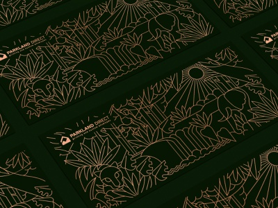Jungle scene Illustration print design jungle envelope badge gold simple symbol mark identity illustration geometric lineart monoline