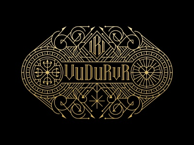 VuDuRvr mark minimal line logo branding design illustration art geometric lineart monoline