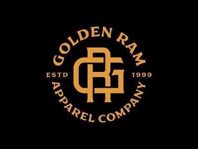 Golden Ram Apparel apparel design monogram brand extension badge fashion apparel simple symbol identity mark illustration art minimal geometric logo lineart monoline