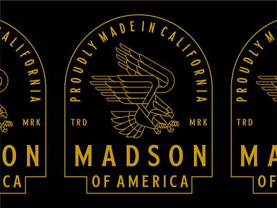 Madson Apparel Design branding t-shirt designer t-shirt design t-shirt fashion clothing eagle apparel graphic design logo badge illustration design minimal geometric lineart line monoline