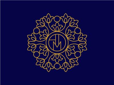 ADM Flower Monogram beautiful luxurious monoline modern art line luxury feminime classy monogram flower