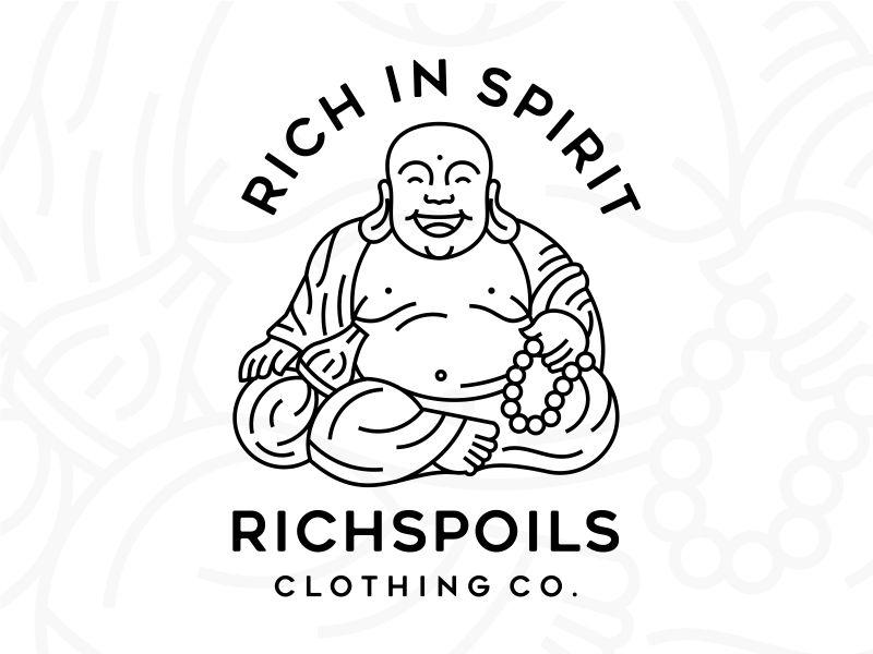 RICHSPOILS buddha lineart line art monoline rich simple