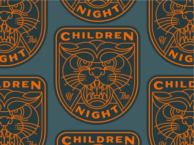 Children of the night labels clothing label t shirt clothing brand patches patch badge logo badges typography illustration badge branding lineart design geometric mark line logo monoline